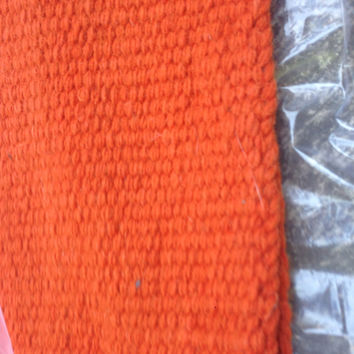 Orange saddle blanket