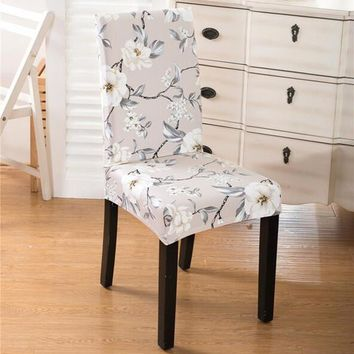 New Spandex Stretch Printed Dining Chair Cover Machine Washable Restaurant For Weddings Banquet Folding Hotel Chair Covering#784