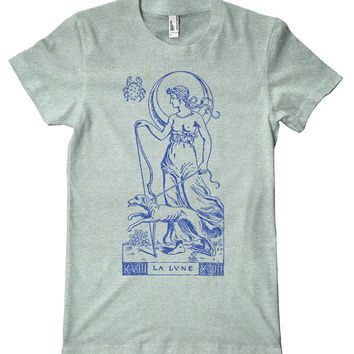 La Lune Tarot Card American Apparel T-Shirt