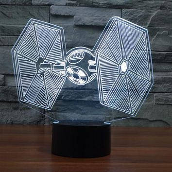 Star Wars Tie-Fighter 3D LED Lamp