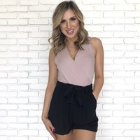Day Time Date Shorts In Black