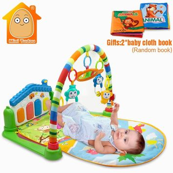 Newborn Baby Multifunction Piano Fitness Rack With Music Rattle Infant Activity Play Mat  Children Educational Toys