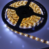 EiioX Home Decor 300 LED Flexible Strip Light Waterproof IP65 3528 SMD 5m/16.4 Feet with US 12V 3A Power Adapter for Shopping Mall Bars Xmas (Clear White):Amazon:Home Improvement