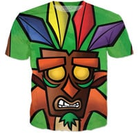 Crash Bandicoot Aku Aku Mask T-Shirt