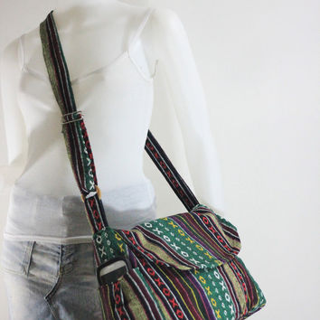 Handbag Hippie Hobo  Hand woven Crossbody Messenger Boho Bag Hmong Camera Purse  Nepali Cotton