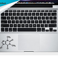 Caffeine Molecule Trackpad Decal Vinyl Laptop Decal Mac Stickers Decals Chemical Molecule Decal Mac Arm Rest Trackpad Decal