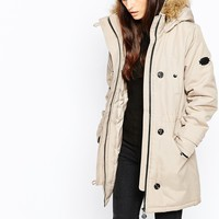 Vero Moda Parka With Faux Fur Hood