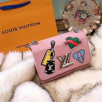 LV High Quality Stylish Women Shopping Leather Shoulder Bag Crossbody Satchel Pink