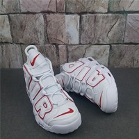 Nike Air More Uptempo White/Red Sneaker