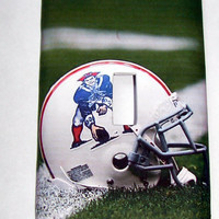 Light Switch Cover - Light Switch Plate New England Patriots Throwback logo Football