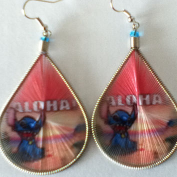 Lilo & Stitch Treaded Stamp Earrings