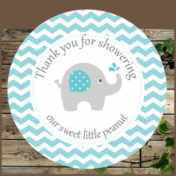 elephant favor tags blue elephant baby shower printable favor tags instant donwload cupcake