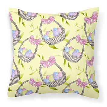 Easter Basket and Eggs Fabric Decorative Pillow BB7490PW1414