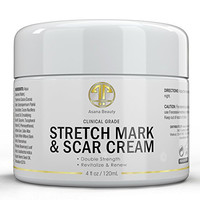 Stretch Mark Cream Huge 4.0 for Removal, Prevention of New and Old Stretch Marks, Scars - all Natural w/ Vitamin E, Shea Butter, Pregnancy Safe
