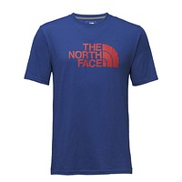 Men's Short Sleeve Bottle Source Logo Tee in Brit Blue by The North Face