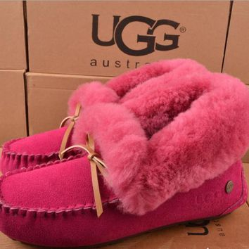 Ugg Women Fashion Wool Snow Boots Calfskin Shoes-7