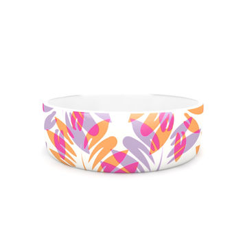"Alison Coxon ""Summer Fern"" Pink Orange Pet Bowl"