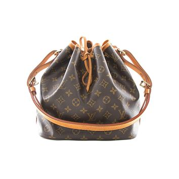 Tagre™ Authentic Louis Vuitton Petit Noe monogram shoulder bag M42226