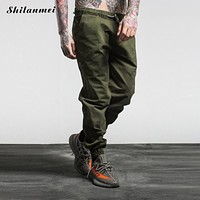 Shilanmei New mens joggers pants military jogger streetwear chinos men sweatpants hip hop joggers streetwear camo cargo pants