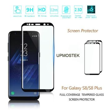 9H 3D Full Curved Screen Protector Tempered Glass For Samsung Galaxy S8 Tempered Glass For Samsung Galaxy S8 Plus Glass UPMOSTEK
