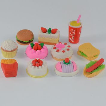 borrachas de escola eraser rubber hot dog borracha kawaii borrachas gomme erasers goma de borrar gummen voor kids cute creativas