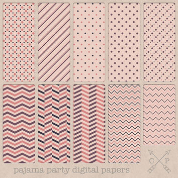 SALE chevron stripes and polkadots pink and purple digital papers. Also perfect patterns for blog and web backgrounds and printing designs.