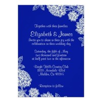 Elegant Navy Blue Wedding Invitations