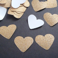 gold glitter heart paper confetti christmas wedding gay baby shower party favor garland bachelorette table decor invitation lasoffittadiste