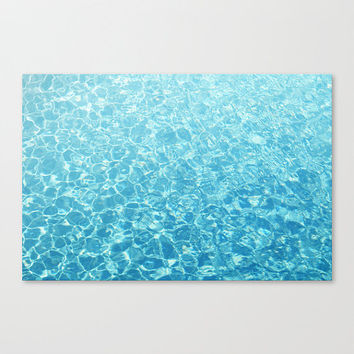 Crystal Oceans - Canvas Gallery Wrap, Aqua Blue Ombre Style Décor, Beach Cottage Chic Surf Home Hanging. In 8x10 11x14 16x20 20x24 24x36