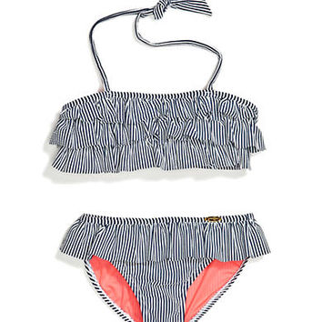 Jessica Simpson 2-Piece Seersucker Bikini Set Girls 7-16