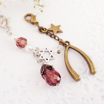 A Set of Midori Traveler's Notebook Charm, A Zipper Pull Charm