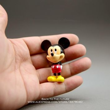 Disney Mickey Mouse 5.3cm mini doll Action Figure Posture Anime Decoration Collection Figurine Toy model for children boy gift