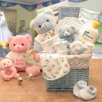 Sweet Baby of Mine New Baby Basket - Available in Girl/pink or Boy/ Blue