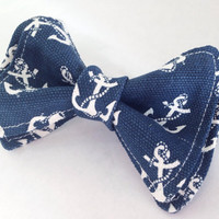 Anchors Away in Navy Bow Tie, Doctor Who Baby, Bow Tie, Bow Ties Toddler, Newborn Bow Tie, Doctor Who, Bowtie, Boys Bow Tie