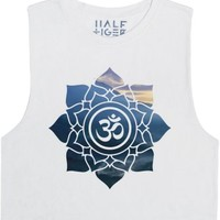 Namaste (Om)-Female Snow T-Shirt