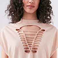 Truly Madly Deeply Macrame Tee - Urban Outfitters