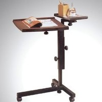Adjustable Mobile Espresso Laptop Computer Caddy Cart Stand