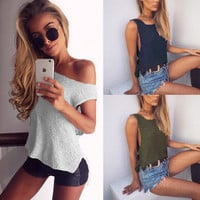 Bralette Stylish Comfortable Beach Hot Summer Sexy Round-neck Sweater Winter Sleeveless Vest [9357322180]