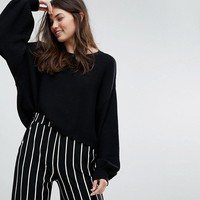 Bershka Light Weight Knitted Jumper at asos.com