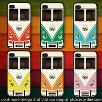 CHOOSE YOUR FAVORITE COLOR OF VW MINIBUS : CASE FOR IPHONE 4/4S,5 /Samsung S2,3,