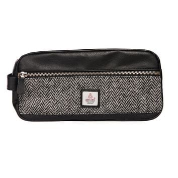Harris Tweed - Dopp Kit - Toiletry Bag - Black & White