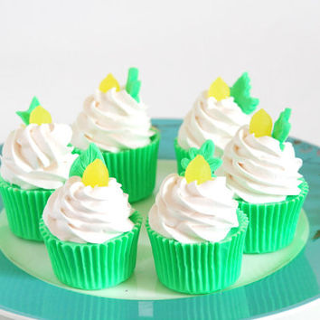 Ginger Lime Lemon Scented 3 oz Small Cupcake Soap Gift