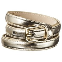 Mossimo Supply Co. Patent Skinny Belt - Gold