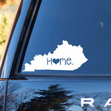 Kentucky Home Decal | Kentucky State Decal | Homestate Decals | Love Sticker | Love Decal  | Car Decal | Car Stickers | Bumper | 057