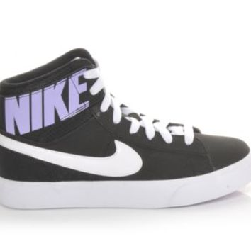Girls' Nike Match Supreme Hi Blk/Hydrangeas | Shoe Carnival