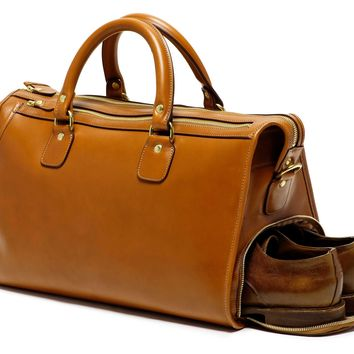 Leather Duffel Bag | Stash No. 67 in Chestnut | Ghurka