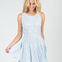 Floral Fit and Flare Dress - Medium