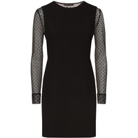 Maje Rimelle Tulle Sleeve Dress Black | Harrods