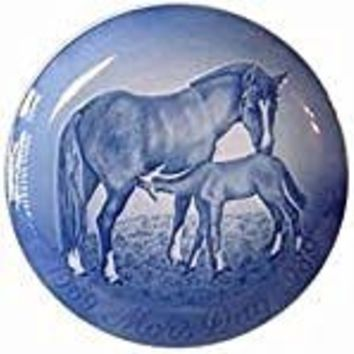1969-1989 Bing and Grondahl Mother's Day Jubilee Plate -- Mare and Foal