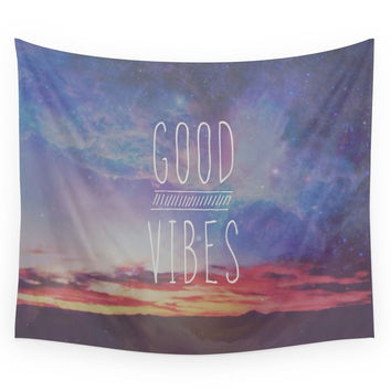 Society6 Good Vibes, Good Days Wall Tapestry